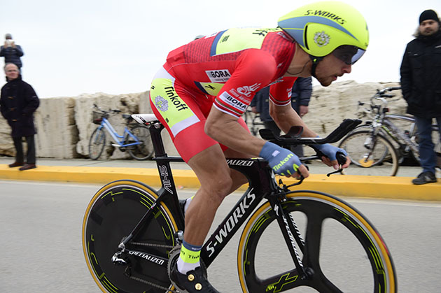 Peter Sagan riding his time trial